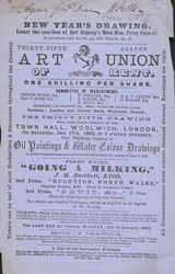 Advert for the Art Union of Kent